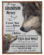 Grandmother Gift For Grandson Hope You Believe In Yourself Fleece Blanket