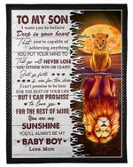 You Are My Sunshine Mom Gift For Son Fleece Blanket Sherpa Blanket