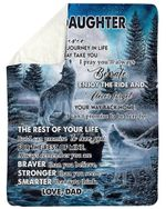 I Pray You'll Always Be Safe Dad Gift For Daughter Sherpa Blanket