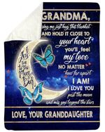 Granddaughter To Grandma Moon Love You To The Moon And Back Fleece Blanket Sherpa Blanket