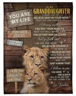 You Are Special Lion Grandma Gift For Granddaughter Fleece Blanket Sherpa Blanket