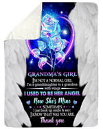 Magical Rose Gift For Angel Grandma I Know That Was You Are Sherpa Blanket
