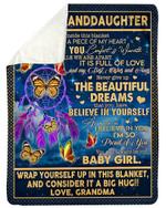 Dream Catcher I'm So Proud Of You Grandma Gift For Granddaughter Fleece Blanket Sherpa Blanket