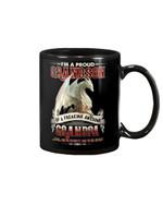 Grandpa Gift For Grandson White Dragon I'm A Proud Grandson Mug
