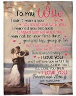 Gift For Wife I'll Love You Then Fleece Blanket Sherpa Blanket
