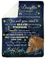 Birthday Gift For Daughter You Put Your Mind To That Sherpa Blanket