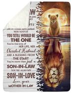 A Blessing From The Start Lion Gift For Son In Law Sherpa Blanket