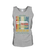 Vintage Design Lucky One Of Wonderful Sweet Mother In Law Gift For Family Unisex Tank Top