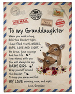 Lovely Letter Gift For Graddaughter To Keep You Warm And Feel My Love Fleece Blanket