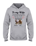 Old Couple Our Home Ain't No Castle Custom Name Adam Gift For Wife Name Joe Hoodie
