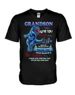The Gift Of You Blue T Rex Gift For Grandson Guys V-Neck