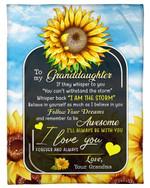 Lovely Gift For Graddaughter Sunflower I Love You Forever And Always Fleece Blanket