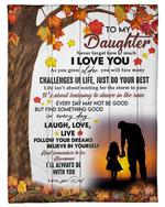 Follow Your Dreams Autumn Season Fleece Blanket Dad Gift For Daughter Fleece Blanket