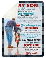 I Am Proud Of You Baby Gift For Son Sherpa Blanket