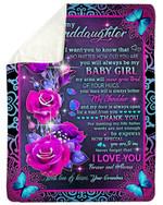 Purple Pattern I Love You Forever And Always Grandma Gift For Granddaughter Fleece Blanket Sherpa Blanket
