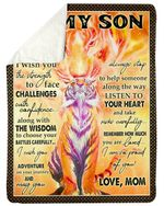 Best Gift For Son Listen To Your Heart Sherpa Blanket
