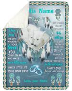 Dreamcatcher Gift For Husband You Make Me A Better Person Fleece Blanket Sherpa Blanket