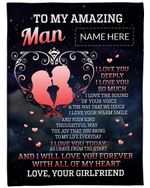 Love You Forever With All Of My Heart Fleece Blanket Gift For Husband Fleece Blanket