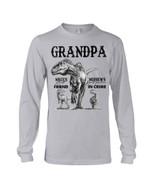 Gift For Grandpa Dinosaur Niece's Best Friend Nephew's Partner In Crime Unisex Long Sleeve
