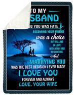 Amazing Gift For Husband Meeting You Was Fate Fleece Blanket Sherpa Blanket