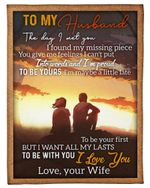 Gift For Husband I'm Proud To Be Yours Fleece Blanket Sherpa Blanket