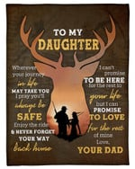 Your Journey In Life May Take You Dad Gift For Daughter Fleece Blanket