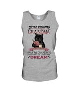 Grumpy Black Cat Grandma Of A Freaking Awesome Grandson Gift For Family Unisex Tank Top