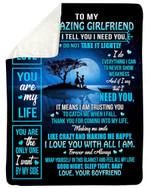 You Are My Life Gift For Girlfriend Fleece Blanket Sherpa Blanket