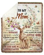 Deer Daughter Fleece Blanket Gift For Mama It's Not Easy For A Woman Sherpa Blanket