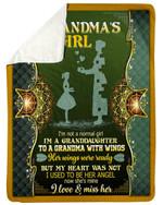 Her Wings Were Ready But My Heart Was Not Gift For Grandma Fleece Blanket Sherpa Blanket
