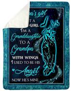 Gift For Grandpa I'm Not A Normal Girl Raven Sherpa Blanket