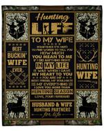 Sometimes It's Hard To Find Words Hunting Gift For Wife Fleece Blanket Fleece Blanket
