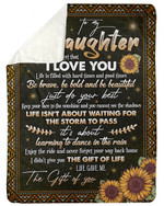 Sunflower Fleece Blanket Gift For Daughter Life Is Filled With Hard Times Sherpa Blanket