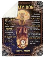 You Mean The World To Me Lion Reflection Fleece Blanket Mom Gift For Son Sherpa Blanket