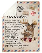 Love Letter Gift For Daughter Feel My Love Morning Noon And Night Sherpa Blanket