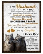I Love You With All My Heart Wife Gift For Husband Wolf Fleece Blanket Sherpa Blanket