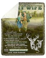 Sometimes It's Hard To Find Words Hunting Fleece Blanket Gift For Wife Sherpa Blanket