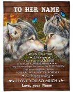 Gift For Wife Wolf Couple You Are My Always And Forever Fleece Blanket Sherpa Blanket