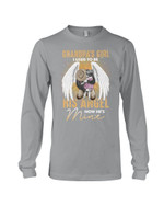 Gift For Family Angel Grandpa With Wings I Used To Be His Angel Unisex Long Sleeve