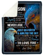 Great Gift For Son Just Go Forth And Aim For The Sky Sherpa Blanket