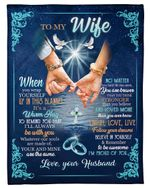 Husband Gift For Wife I'll Always Be With You Hand In Hand Fleece Blanket Sherpa Blanket