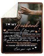 Gift For Husband Thank You For Being Mine Fleece Blanket Sherpa Blanket