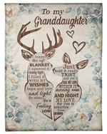 Deer My Love For You Is Forever Gift For Granddaughter Fleece Blanket Sherpa Blanket