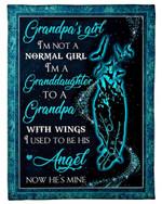 Gift For Grandpa I'm Not A Normal Girl Raven Fleece Blanket