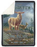 This Old Doe Will Be There Fleece Blanket Mom Gift For Daughter Sherpa Blanket