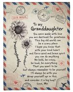Awesome Gift For Granddaughter Always Remember To Be Yourself Fleece Blanket