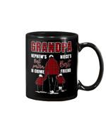 Gift For Grandpa Plaid Red Best Friend Best Partner In Crime Mug