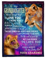 Lion Grandma Gift For Graddaughter This Old Lioness Will Always Have Your Back Fleece Blanket