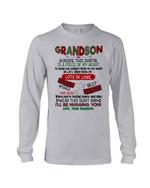 Lot Of Love Best Wishes And Hugs Plaid Design Grandma Gift For Grandson Unisex Long Sleeve
