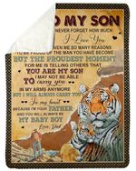 You Will Always Be My Baby Boy Dad Gift For Son Sherpa Blanket